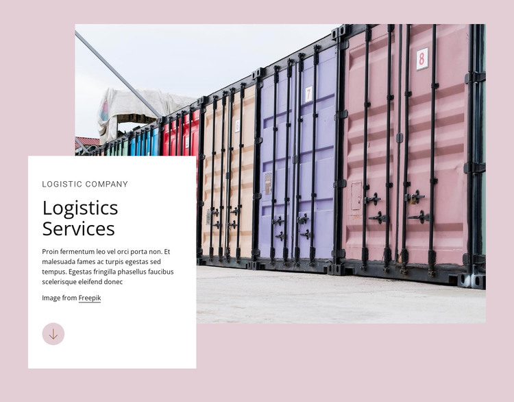 Logistic services HTML Template
