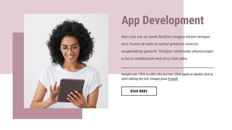 Custom software development HTML Template