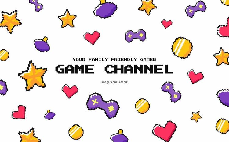 Game channel Website Mockup