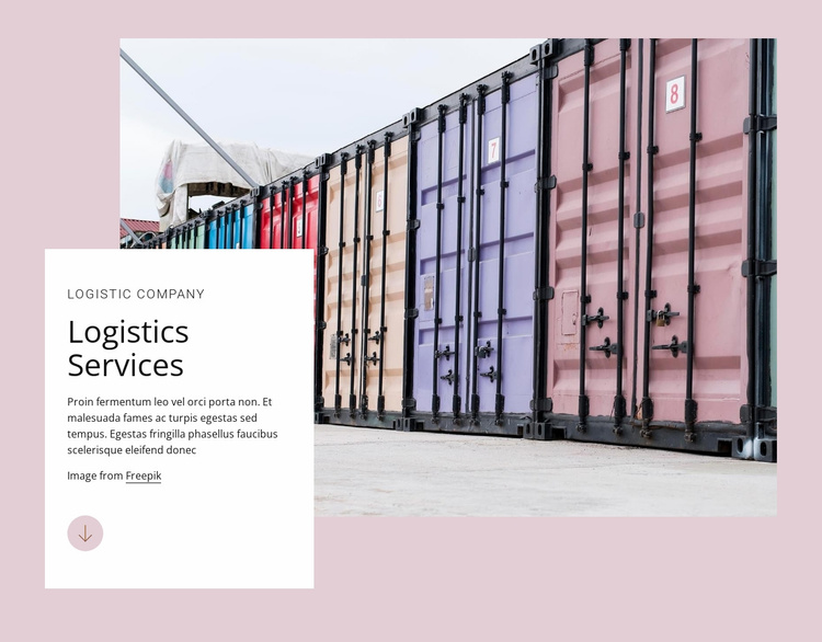 Logistic services Website Template