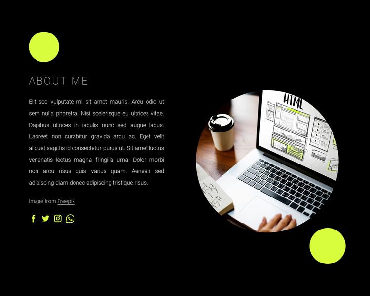 I am freelance web developer HTML Template