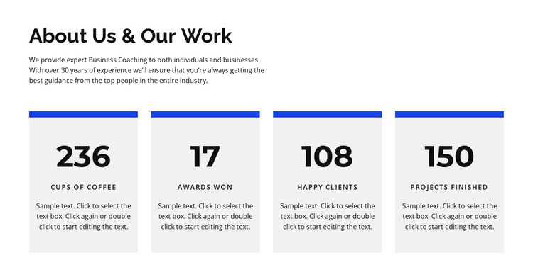 About us and work HTML Template