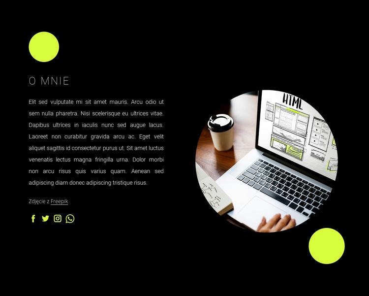 Jestem niezależnym web developerem Szablon witryny sieci Web