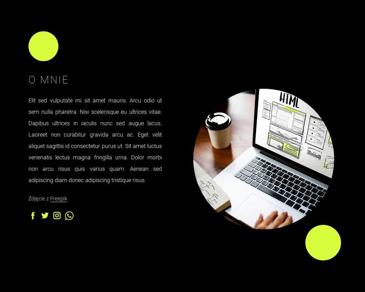 Jestem niezależnym web developerem Szablon Joomla