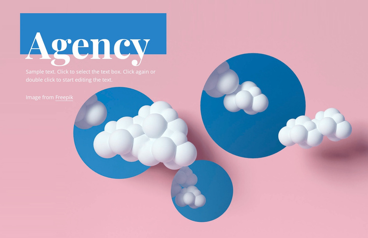 Digital agency design Website Template