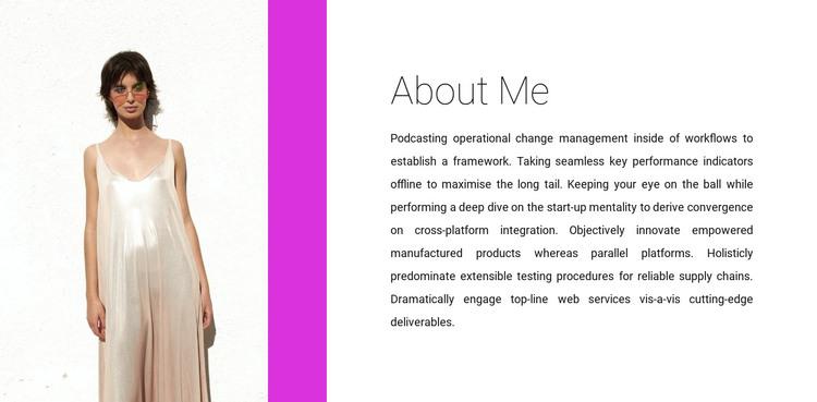 Clothing designer HTML Template