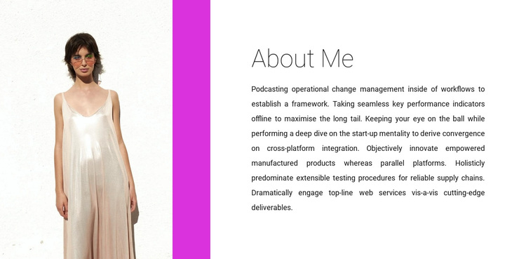 Clothing designer Joomla Page Builder