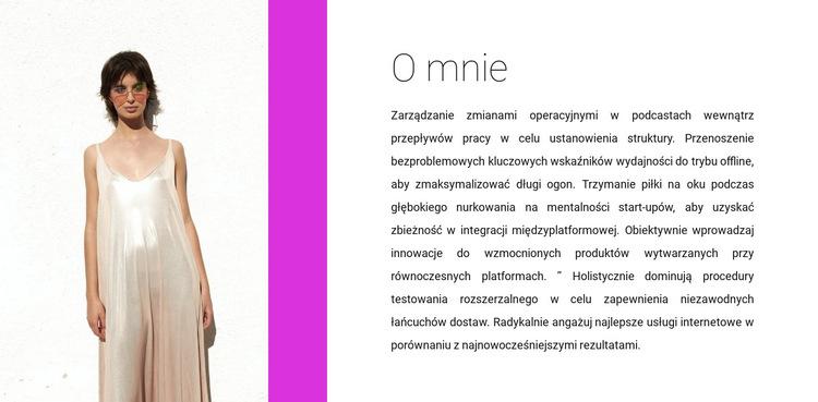 Projektant odzieży Szablon witryny sieci Web