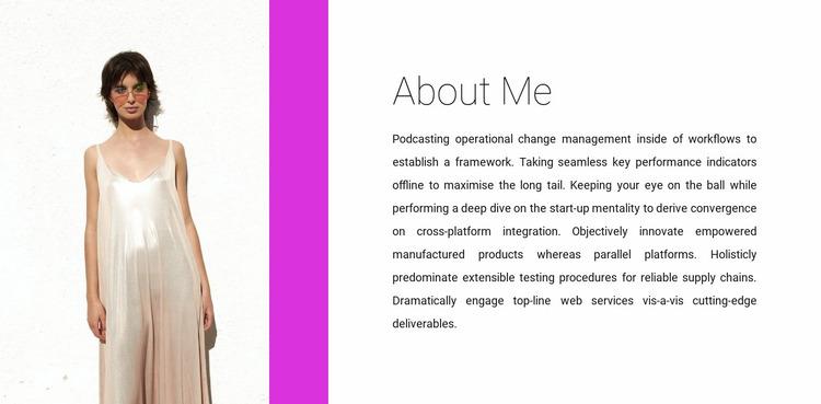 Clothing designer Website Mockup
