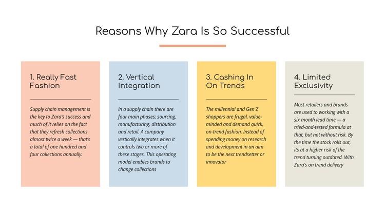 Text reasons zara successful CSS Template