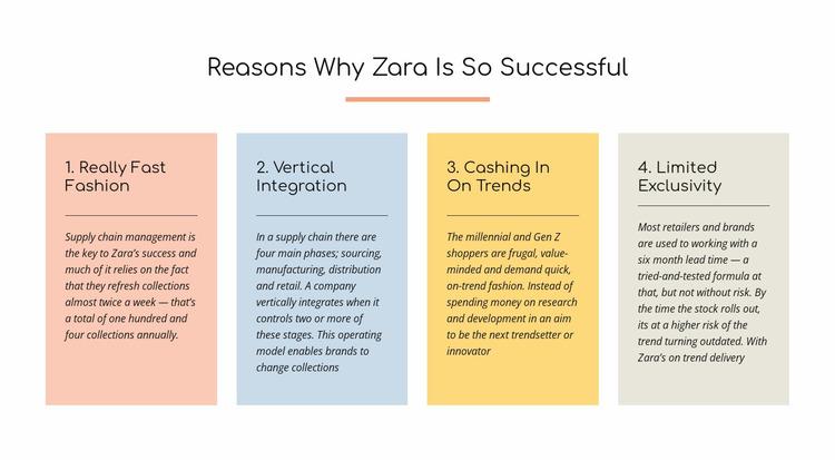Text reasons zara successful Website Mockup
