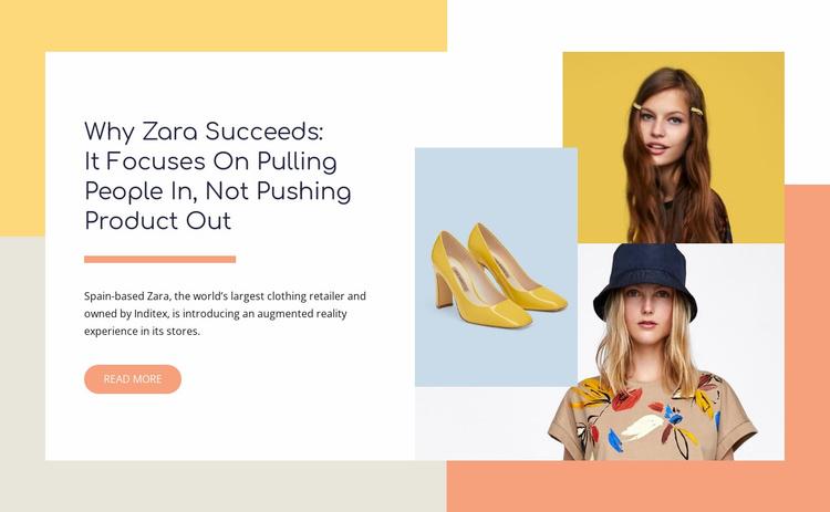 Handbags, jackets, shoes Website Template