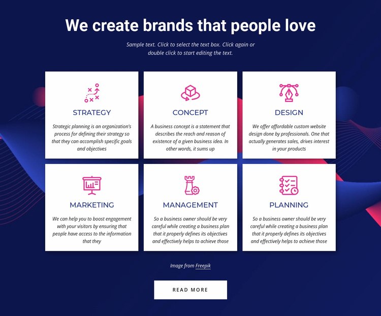 Branding communications agency services Website Template