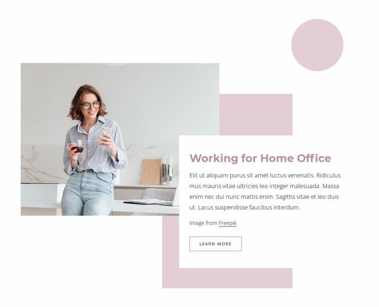 Home office Website Mockup