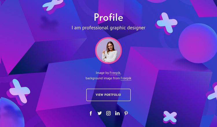 Graphic designeer profile HTML Template