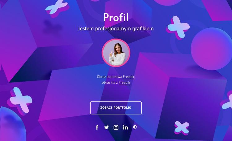 Profil grafika Szablon witryny sieci Web