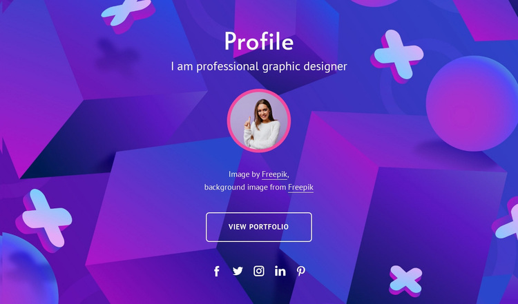 Graphic designeer profile Website Design