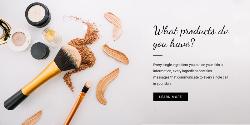 Beauty Product Web Page Designer