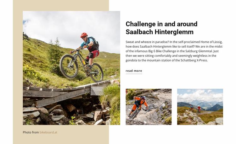 Challenge saalbach hinterglemm Website Design