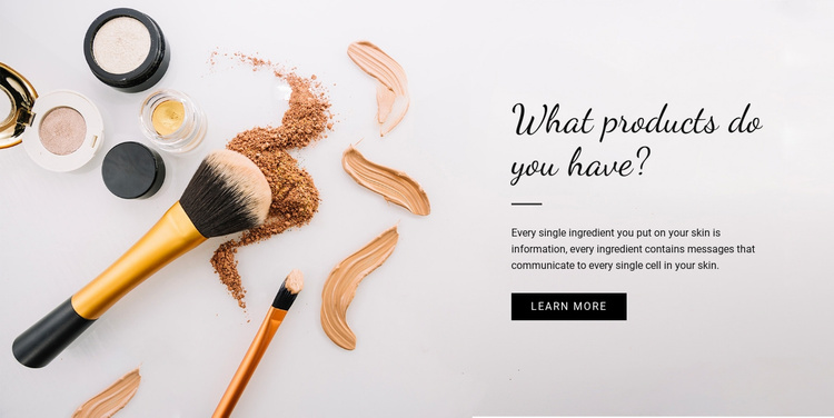 Beauty Product Website Template