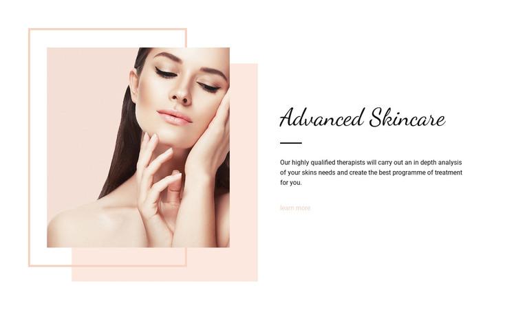 Advanced skincare Homepage Design