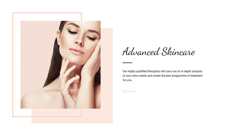 Advanced skincare WordPress Theme