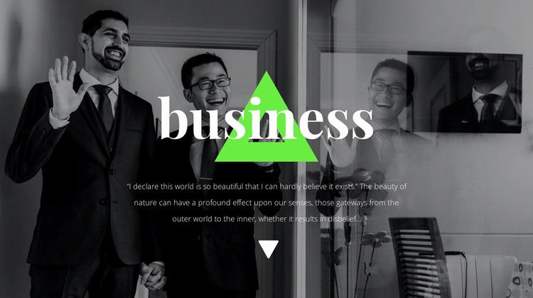 Business partners Website Mockup