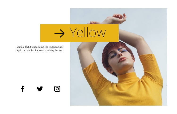 Yellow trending color Web Page Designer