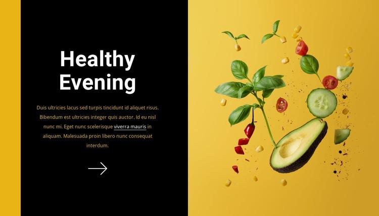 Healthy evening Website Template