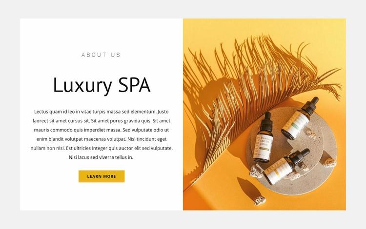 Top luxury spa Website Template