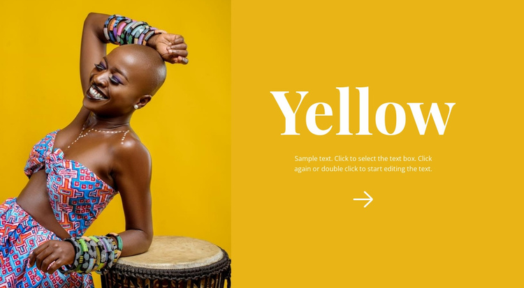 Bright African style Website Template