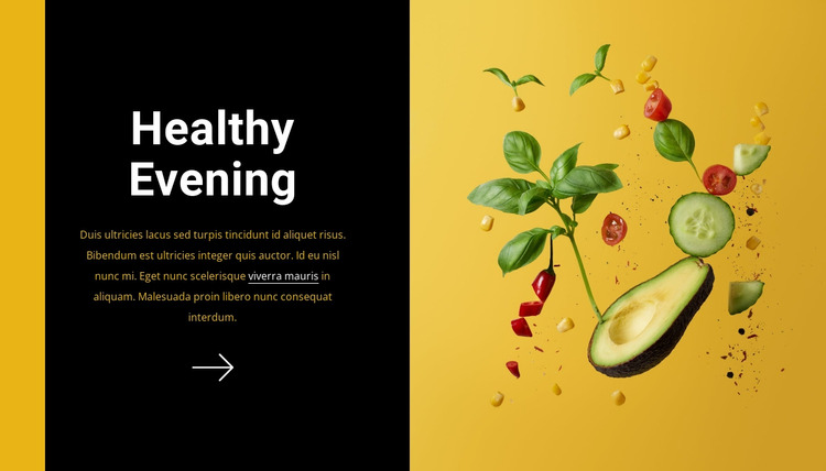 Healthy evening WordPress Website Builder