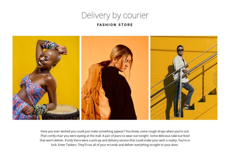 Gallery with bright fashion CSS Template
