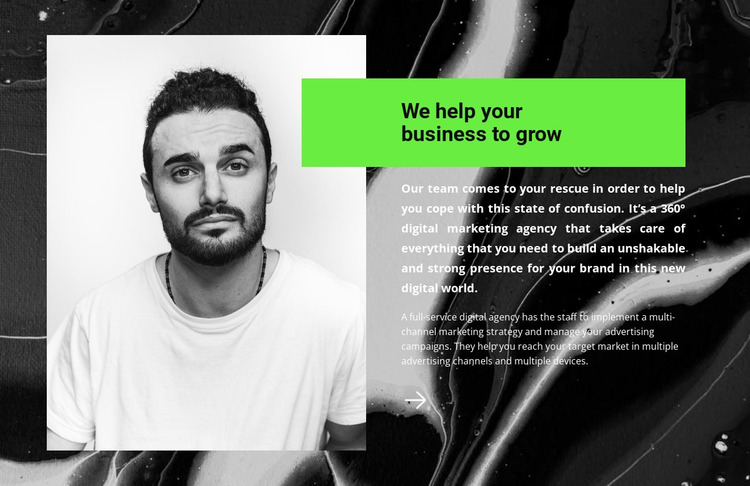 Your business consultant Website Mockup