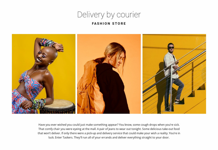 Gallery with bright fashion Website Template