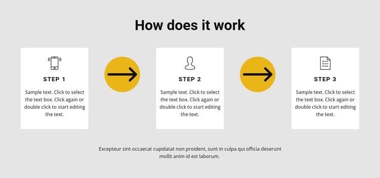 Three steps to work CSS Template