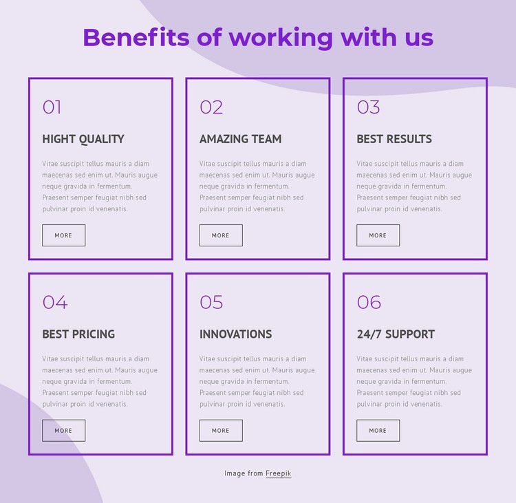 Benefits of working with our consultants Html Code Example