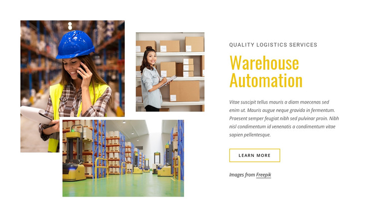 Warehouse automation HTML Template