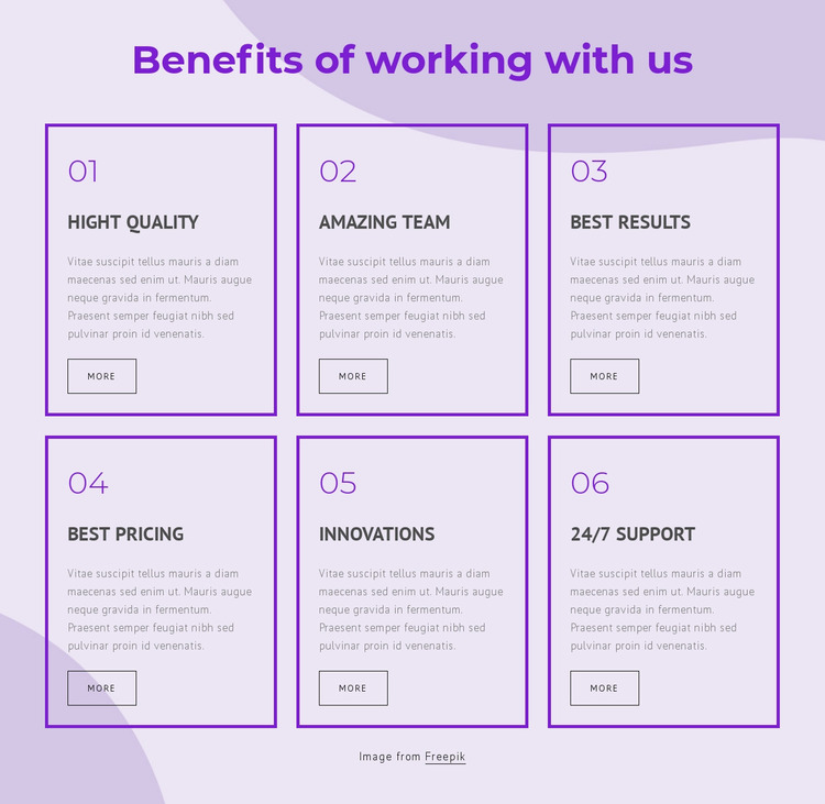 Benefits of working with our consultants Website Mockup