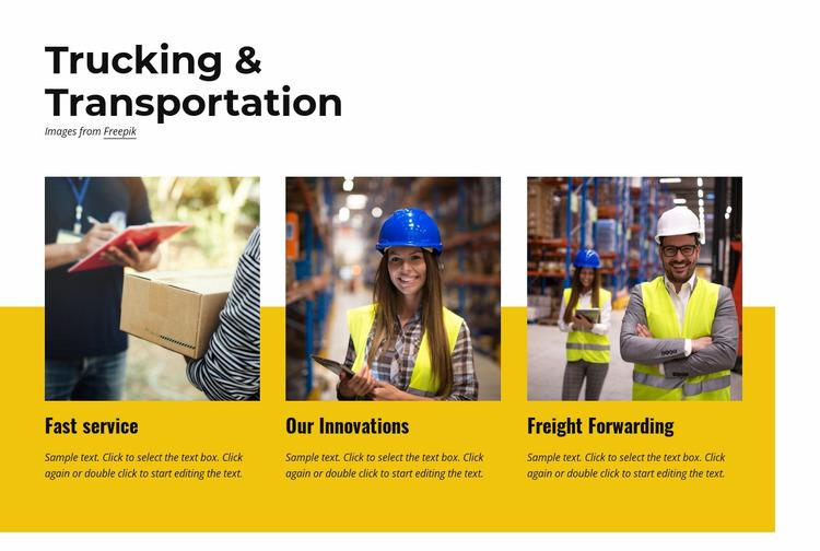 Logistics and warehousing Website Mockup