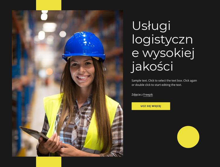 Wysokiej jakości usługi logistyczne Szablon witryny sieci Web