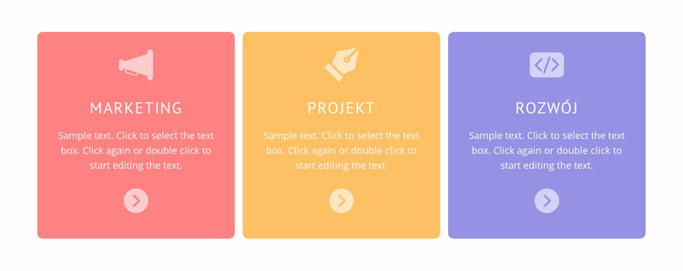 Kolorowe komórki z ikonami Szablon Joomla