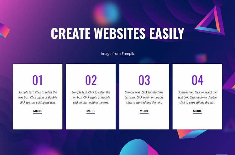 Create websites easily Website Template