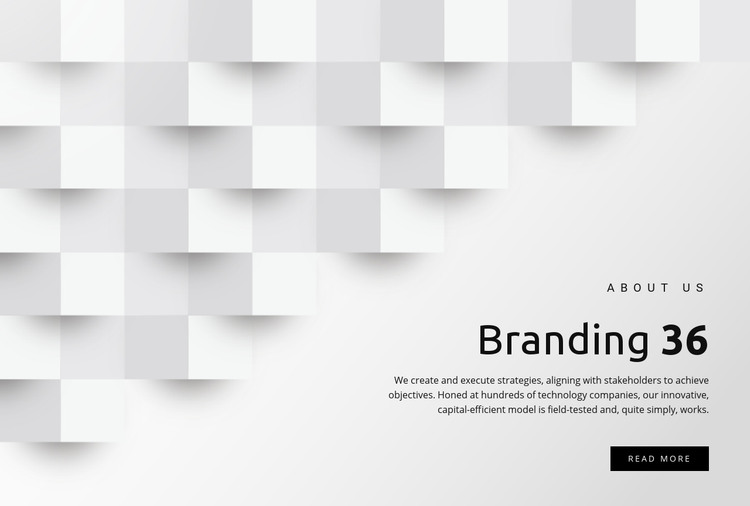 Management and branding Homepage Design