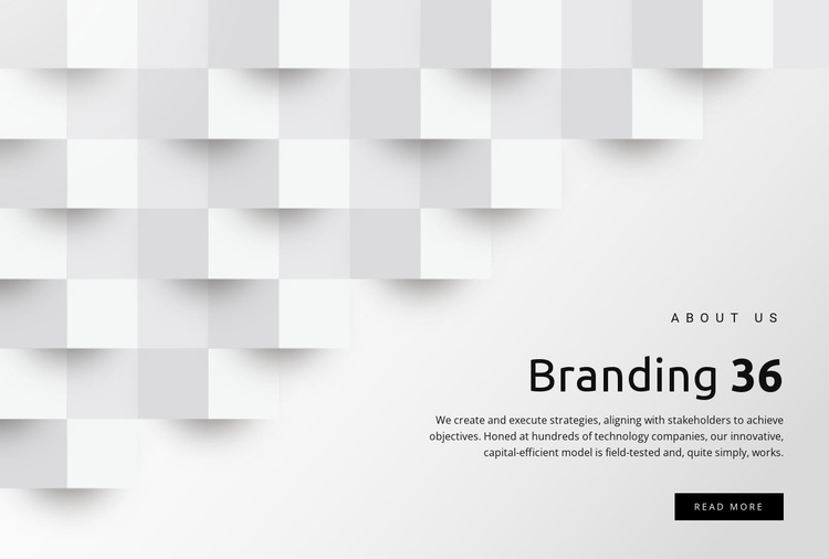 Branding and design services HTML5 Template