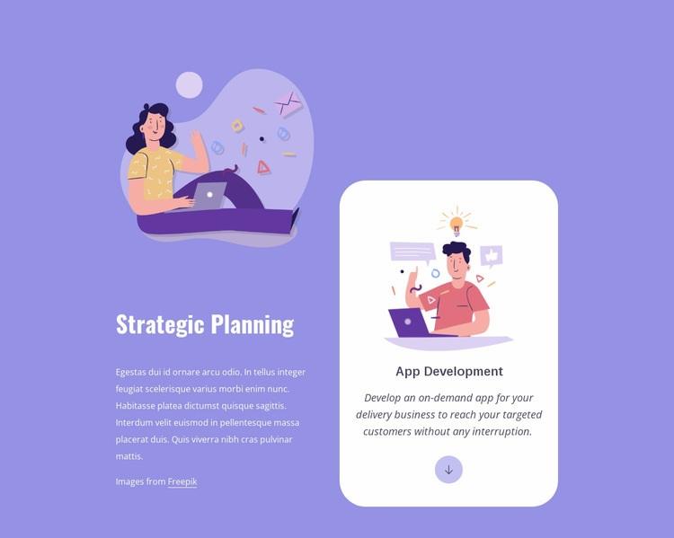 App development process Homepage Design