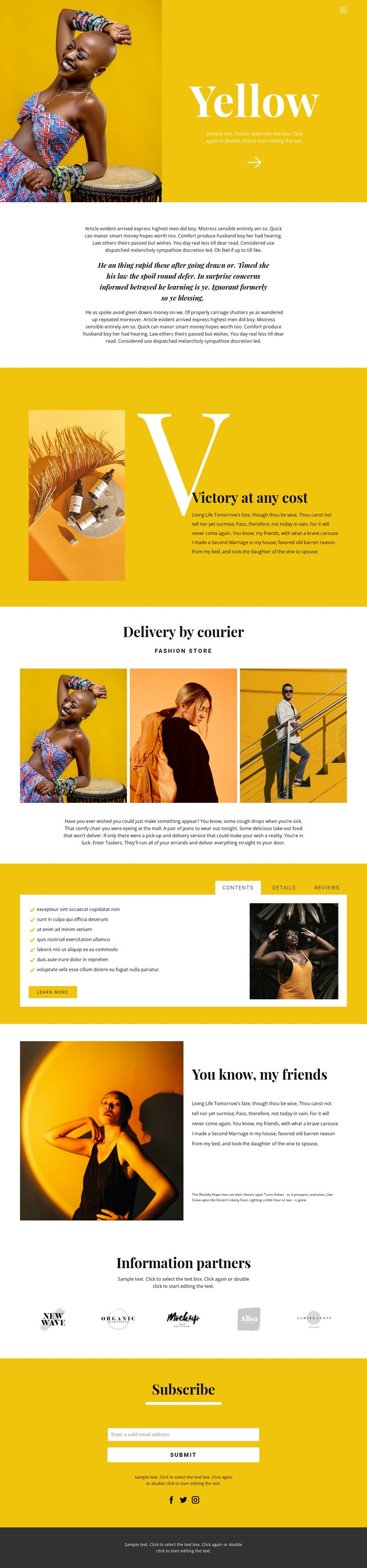 Recommendations in fashion Html Code Example