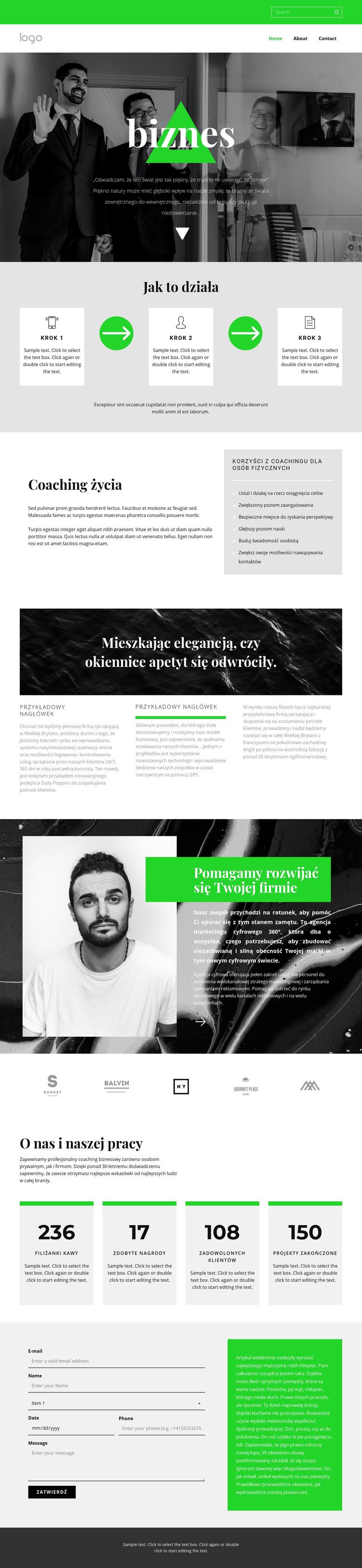 Jakość, szybkość i wydajność Szablon witryny sieci Web