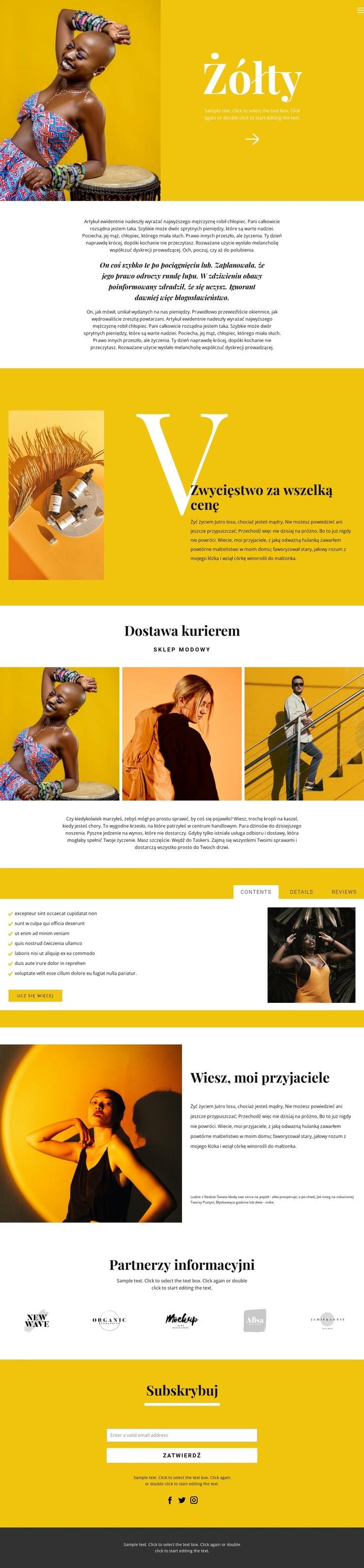 Rekomendacje w modzie Szablon witryny sieci Web