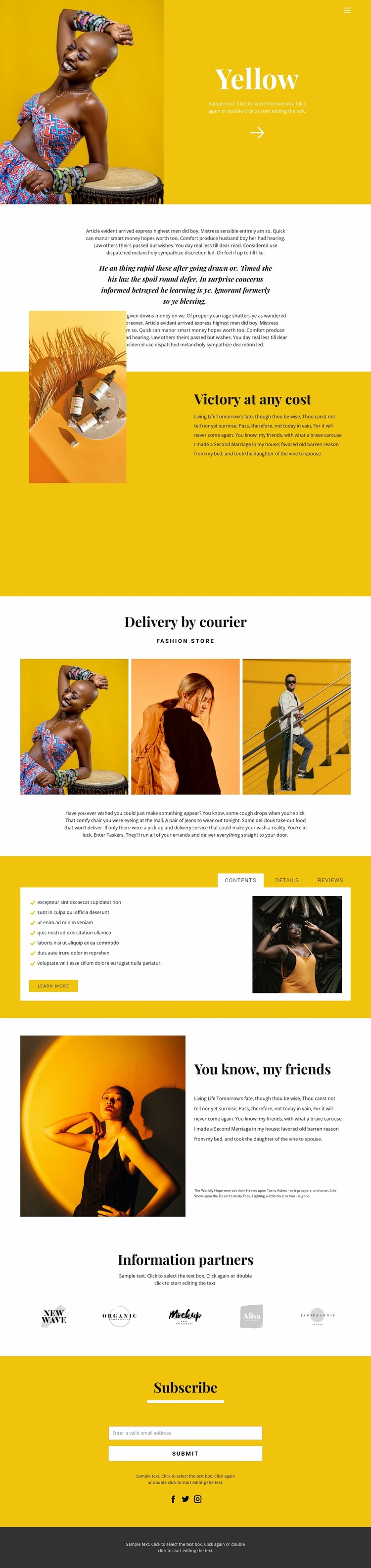Recommendations in fashion Website Template